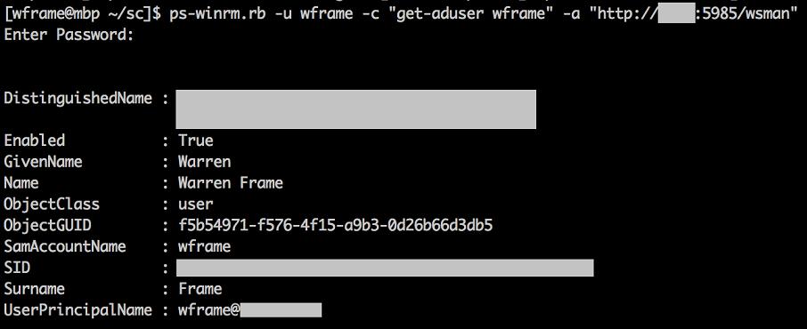 Python Winrm Example